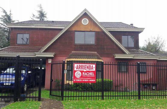 Arriendo de Amplia Casa con 5d en Barrio Inglés, Temuco